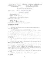 Đề cương chi tiết học phần từ vựng - ngữ nghĩa học tiếng việt