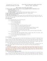 đề cương chi tiết học phần bóng đá nâng cao II