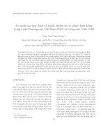 So sánh các quy định về trách nhiệm do vi phạm hợp đồng trong Luật Thương mại Việt Nam 2005 và Công ước Viên 1980
