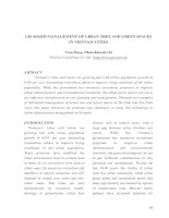 GIS-BASED MANAGEMENT OF URBAN TREE AND GREEN SPACES IN VIETNAM CITIES