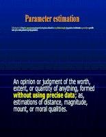 Tài liệu Slide bài giảng môn Lý thuyết xác suất thống kê bằng Tiếng Anh StatisticsLecture3_Estimation