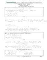 Bài tập hàm số mũ,logarit nâng cao có lời giải