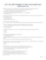 312 câu hỏi nghiệp vụ kế toán kho bạc kèm đán án (tài liệu ôn thi công chức)