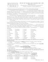 Đề thi thử THPT quốc gia môn tiếng anh lần 3 năm 2014 trường THPT gia lộc, hải dương