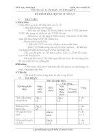 Đề thi kỳ II - hoá 9 ,có ma trận mới, đáp án