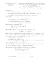 Đề thi tuyển sinh lớp 10 môn toán chuyên Thái Bình năm 2015 - 2016(đề chuyên, có đáp án)