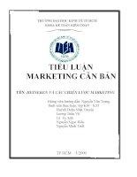 tiểu luận quản trị marketing heineken và các chiến lược marketing