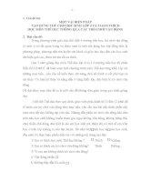 MỘT VÀI BIỆN PHÁP TẠO HỨNG THÚ CHO HỌC SINH LỚP 4 VÀ 5 HAM THÍCH HỌC MÔN THỂ DỤC THÔNG QUA CÁC TRÒ CHƠI VẬN ĐỘNG