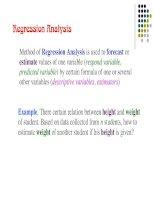 Tài liệu Slide bài giảng môn Lý thuyết xác suất thống kê bằng Tiếng Anh StatisticsLecture5_Regression
