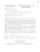 Đề thi mẫu THPT quốc gia môn toán năm 2015 Trường THPT Lê Xoay
