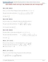 Tuyển tập bất đẳng thức và cực trị trong các đề thi đại học