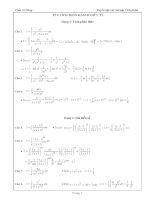 Tuyển tập các bài tập tích phân