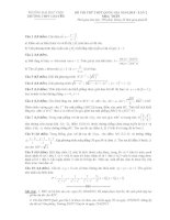 Đề thi thử THPT quốc gia môn toán lần 2 năm 2015 trường THPT chuyên đại học vinh, nghệ an