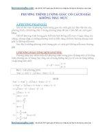 Các dạng phương trình lượng giác có lời giải không mẫu mực