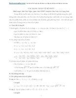 Các dạng toán số phức có lời giải GV bùi văn ngọc
