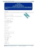 ôn tập toán  chuyên đề hàm số mũ   logarit