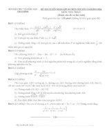 Đề thi tuyển sinh lớp 10 môn toán chuyên Thái Bình (Đề chung, có đáp án)