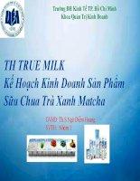 Thuyết trình Kế Hoạch Kinh Doanh Sản Phẩm Sữa Chua Trà Xanh Matcha