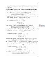 công thức giải nhanh bài tập trắc nghiệm hóa học