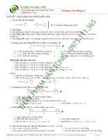tổng hợp lý thuyết luyện thi đại học môn vật lý