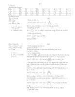 ĐỀ KIỂM TRA HỌC KỲ 2 VẬT LÝ 11 - cb 11 SO 1