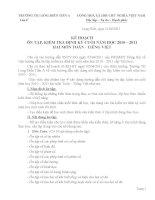 Kế hoạch ôn tập 2 môn Tiếng việt - Toán 4