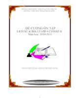 đê cương ôn tập Lịch sử& địa lí 4 cuối ki II năm học 2010-2011