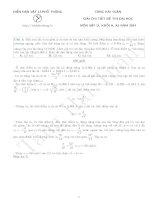 câu hỏi và lời giải chi tiết ôn thi đại môn vật lý trên thư viện vật lý 2015