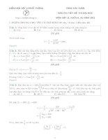 câu hỏi và lời giải chi tiết ôn thi đại môn vật lý dành cho ôn thi đại học và cao đẳng 2015