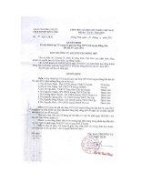 Số: 42/QĐ-LĐLĐ ngày 25/4/2011 Quyết định v/v thành lập Tổ trọng tài giải cầu lông CNVCLĐ huyện ĐP.. năm 2011