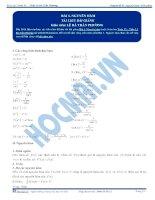 ôn thi môn toán chuyên đề nguyên hàm   tích phân (lý thuyết + bài tập có đáp án)