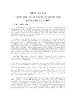 KINH NGHIỆM Rèn kĩ năng viết văn miêu tả cho học sinh lớp 5