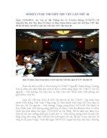 SƠ KẾT CUỘC THI VIẾT THƯ UPU LẦN 40 QUỐC GIA