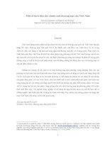 báo cáo khoa học kinh tế đề tài Một số kịch bản cho chính sách thương mại của Việt Nam
