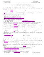 Đề thi thử chinh phục điểm 7 môn vật lý có đáp án chi tiết