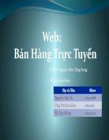 slide báo cáo đề tài tạo wep bán hàng trực tuyến