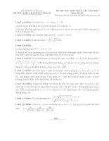 Đề thi thử môn toán thpt quốc gia năm 2015 trường thpt thanh chương 3