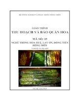 Giáo trình MD05  thu hoạch và bảo quản hoa nghề trồng hoa huệ, lay ơn, đồng tiền, hồng môn