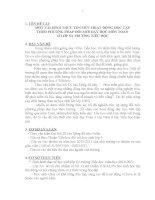 TÊN ĐỀ TÀI: MỘT VÀI HÌNH THỨC TỔ CHỨC HOẠT ĐỘNG HỌC TẬP  THEO PHƯƠNG PHÁP ĐỔI MỚI DẠY HỌC MÔN TOÁN  Ở LỚP 5A TRƯỜNG TIỂU HỌC