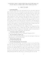 CÁCH PHÁT HIỆN VÀ BỒI DƯỠNG HỌC SINH GIỎI MÔN VẬT LÝ KỸ THUẬT VÀ KHOA HỌC CÔNG NGHỆ CẤP THCS