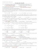 135 câu trắc nghiệm cơ học hay và khó