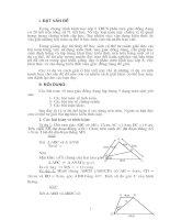 Các bài toán về tam giác đồng dạng