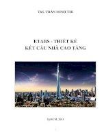Etabs   thiết kế kết cấu nhà cao tầng