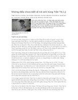 Những điều chưa biết về nữ anh hùng Trần Thị Lý