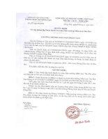 Số: 62/QĐ-PGDĐT ngày 27/4/2011 Quyết định Thanh tra toàn diện trường MN Tân Phú
