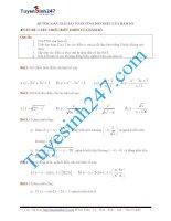 Hướng dẫn giải bài tập về tính đơn điệu của hàm số cực hay