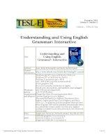 understanding and using grammar in english