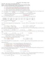 Bài tập về dao động điều hòa có đáp án