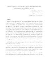 Chương trình đào tạo cử nhân ngành thư viện thông tin trường Đại học Văn hóa Hà Nội