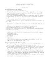 ÔN TẬP PHẦN DI TRUYỀN HỌC  Sinh học 12